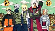 Poster 42x24 cm Naruto Shippuden Naruto Kakashi Minato Jiraiya Sarutobi