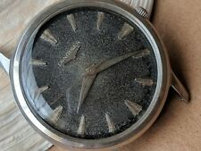 Vintage 1950's Longines-Wittnauer Watch w/Uniquely Aged Dial,Divers All SS Case