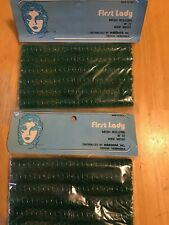 Vintage FIRST LADY MESH Wire HAIR ROLLERS, 2 Packs Of 12, New And Sealed.