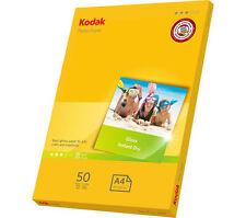 KODAK A4 Photo Paper 50 Sheets 180 GSM Gloss Surface Inkjet 210 x 297 mm