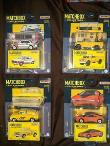 Matchbox 2021 Collectors Complete set of 4 (BMW Land Rover / Chevy Mooneyes C10)