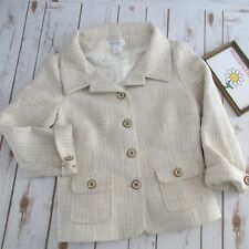 Women's White House Black Market Beige Woven Spring Tailored Cropped Jacket  8