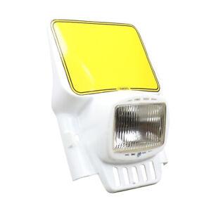 Cemoto headlight vintage elba enduro ufo acerbis DR XT XR WR IT 250 plaque phare