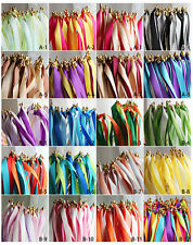 10pcs Fairy Twirling Ribbon Bell Sticks Wands Wedding Party Supplies Bride Groom #b2