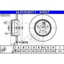 SATZ 2x ATE Bremsscheibe MERCEDES-BENZ C-CLASS (W202)  MERCEDES-BENZ C-CLASS (W