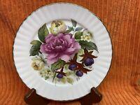 """Vtg. Royal Stafford Floral 8 1/4"""" Plate Gold Rim"""