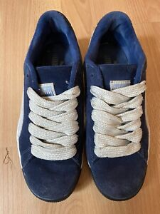 Puma Suede Classic Sneakers *Very Rare* Blue  Fat Laces - Size: 7