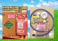 R410a, Refrigerant, 5 lb. Can, Best Value On eBay, FAST FREE SHIP, Gauge, Hose