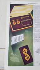 1945 Swank gold filled money clip cufflinks jewelry fashion ad
