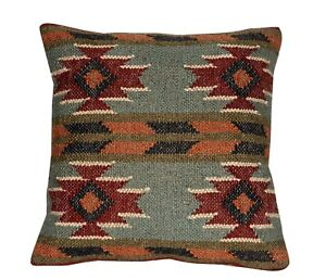 Lot of 10 Pcs Set Indien Handwoven Kilim Cushion Cover Jute Decorative 10 set 81