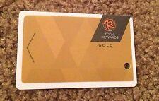 "BALLY TOTAL REWARDS NEW PLAYERS CLUB GOLD SLOT CARD ""NO NAME"" BLANK CAESARS"