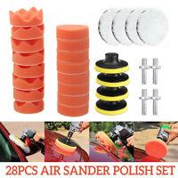 28Pcs 3'' Polishing Sponge Pad Wool Pad Thread Kit For Sander Polisher Grinding