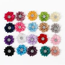 20pcs Baby Girls Kids DIY Flowers For Headband Corsage Ribbon Bow No Clip Set
