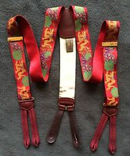 Rare Limited Edition TRAFALGAR Braces/Suspenders RED Chinese New Year Dragon
