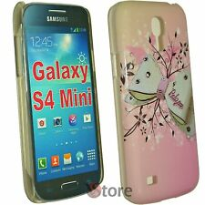 Cover For Samsung Galaxy S4 Mini i9195 Bow Flowers Pink + Film