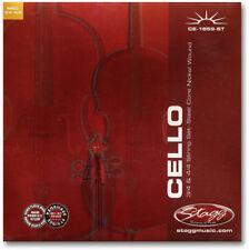Violoncelle Jeux de 4 Cordes Violoncelle 4/4 et 3/4 Acier Filé Nickelé
