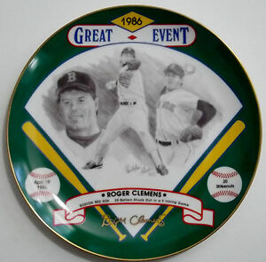 ROGER CLEMENS Signed Hackett American Baseball Plate Red Sox Auto Rare SP #/200