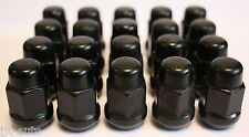 20 X M12 X 1.5 BLACK TAPERED ALLOY WHEEL NUTS FIT KIA ENTERPRISE SEDONA OPRIUS