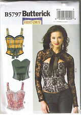 Historical Renaissance Boned Corset Top Sash Shrug Sewing Pattern 14 16 18 20 22