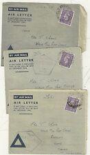 1944 3 RAF censurata lettere C.M.F. ITALIA campo uffici postali per T truffatore @ Burnley
