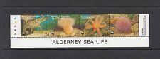 FISH/MARINE/CORALS/WWF - Alderney   - 1993 strip of 4 -(SC 69)- MNH - B787