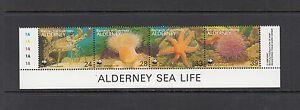 A894 Alderney 1993 fish marine WWF strip MNH