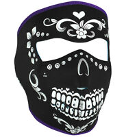 Zan Headgear Neoprene Full-Face Mask, Black and White Muerte