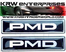 1982 PONTIAC FIREBIRD KNIGHT RIDER KITT KARR K2000 PMD SEATS EMBLEMS PAIR SILVER
