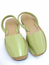 LES ATELIER LADIES MENORCAN LIME GREEN LEATHER FLAT CASUAL SANDALS UK 8 - EUR 41