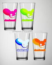RARE NEW Deadmau5 Mouse 16 OZ. Pint Glass Bar Drinkware 4 Pack Gift Set 4 Colors
