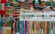 LOT 150 PIECES EMBROIDERY VINTAGE THREAD FLOSS & YARN - MULTI COLORS