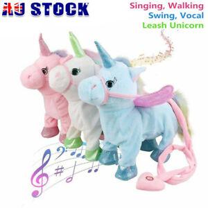 Magical Walking Unicorn Toys Singing Songs Children Gift Unicorn Plush Toy Kids