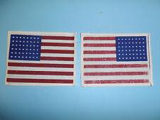 b0147v WW 2 US Army Airborne US Flag sleeve pat. 48 Star Cheese Cloth R2B