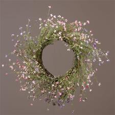 "New Spring Summer Lavender Herb Daisy Wild Flower Floral Grapevine Wreath 21"""