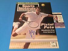 Pete Sampras Tennis Signed Auto SI Cover 11x14 PHOTO JSA COA Certified