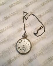 Antique Elgin wg plate pocket watch ser # 19709049, 12S, 17 jls, 1917 with Chain