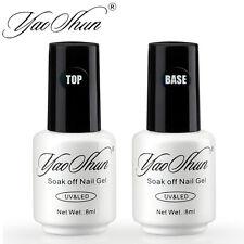 Yao Shun 8ml Varnish UV Nail Lacquer Gel Polish Top and Base Coat Manicure Set