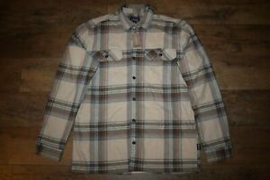 Patagonia Mens Organic Cotton Fjord Flannel Shirt 42400 Size XL Nautilus Tan NWT