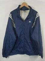 Vintage Mens Adidas Windbreaker Jacket XL Size Extra Large Blue Vtg 90s