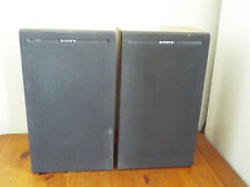 Pair Vintage Sony SS-51 Speakers Bookshelf Stereo HiFi 8 ohms 36w Japan Made MIJ