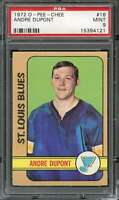 1972-73 O-PEE-CHEE #16 ANDRE DUPONT PSA 9 RC ROOKIE BLUES  *CG2901