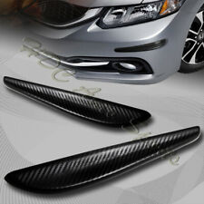 JDM 330MM Carbon Style Bumper Lip Corner Scratch Protector Strip Guard Universal