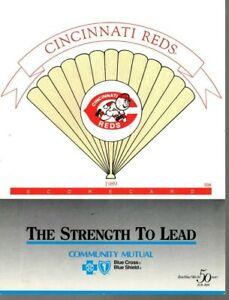 1989 (9/6) Baseball program LA Dodgers @ Cincinnati Reds, partly scored ~ VG