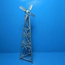 Dollhouse Miniature Metal Windmill in Pewter ~ Eiwf534