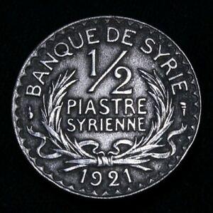 Syria: 1/2 Piastre  1921 Great Condition 53-792