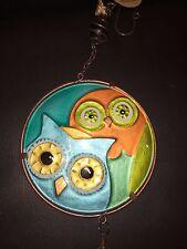 """Glass Owl Windchime! Cute! 36"""" Long! MAKE AN OFFER!!!"""