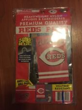 "Cincinnati Reds 44"" x 28"" 2 Sided Flag Weather Resistant Nylon New Outdoor"