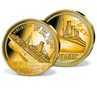 RARE 2019 Solid Gold Titanic coin 0.5 grams - 11 mm - RARE + COA + Capsule Proof