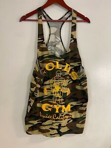 GOLD'S GYM, VINTAGE, Camouflage, TANK TOP SIZE: Large