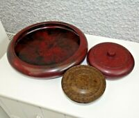 Antique Art Deco 1930's Bakelite Tableware Bowl and Two Small Lidded Bowls/Pots